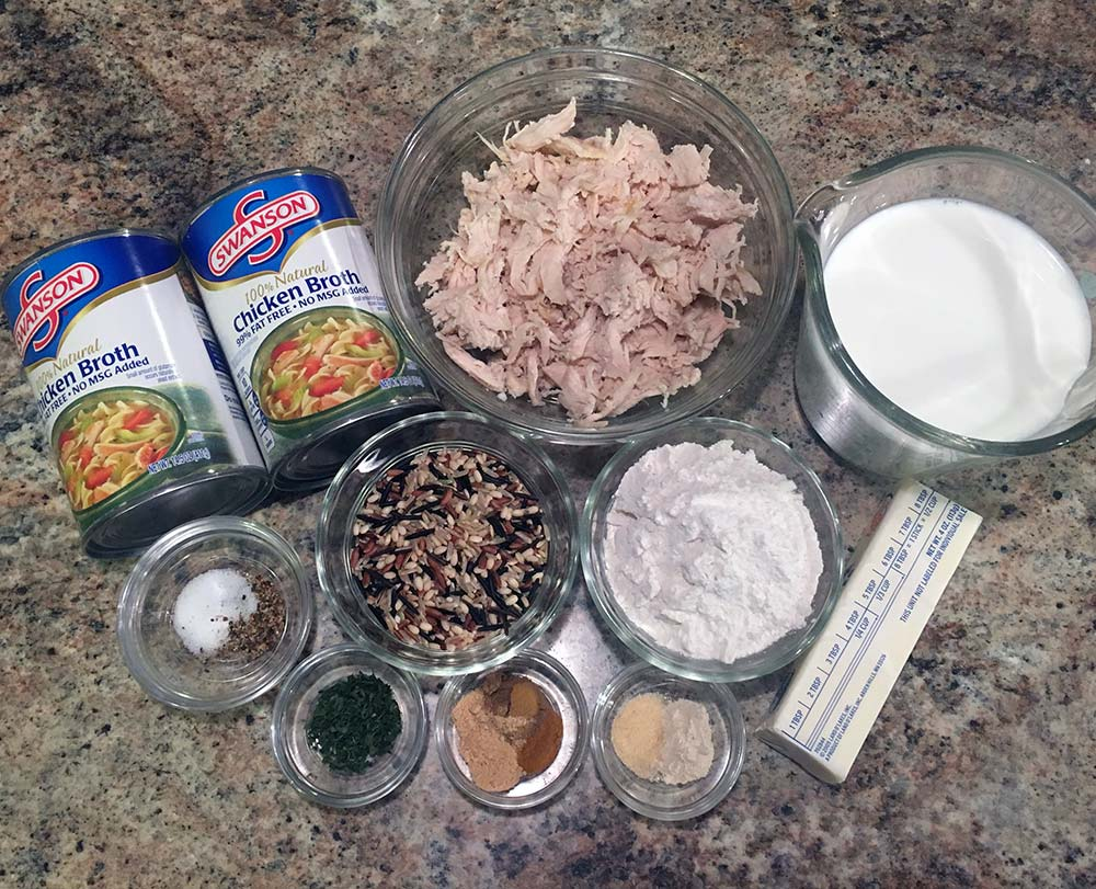 Creamy Chicken & Wild Rice Soup - Ingredients