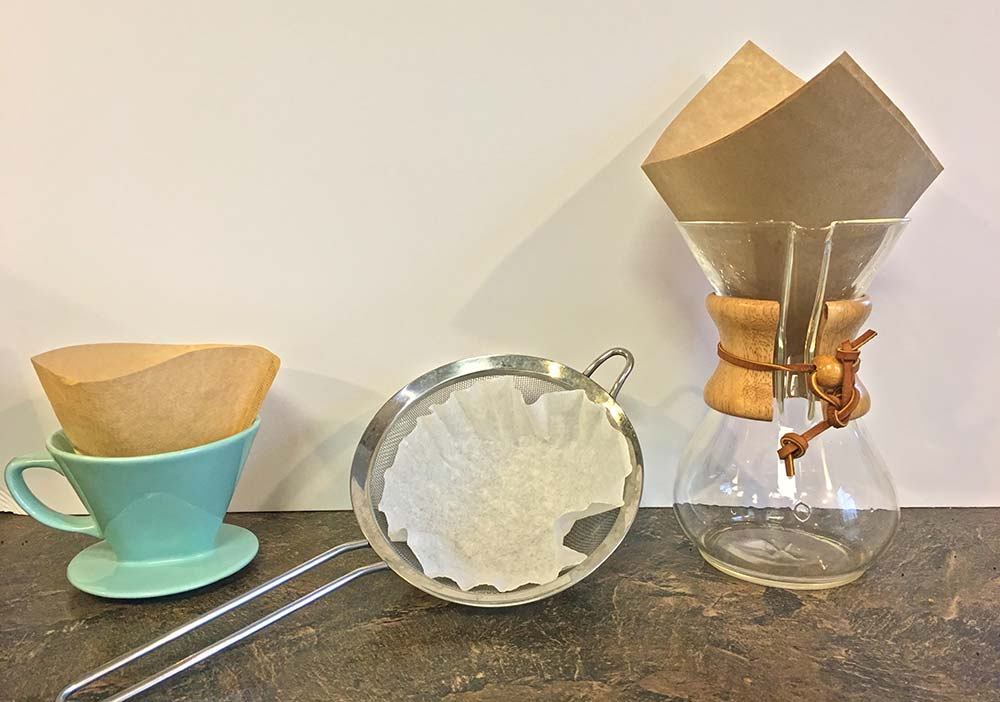 Make Your Own Iced Coffee - Straining