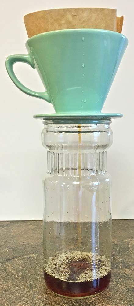 Make Your Own Iced Coffee - Filling Pitcher