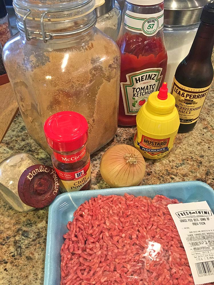 Sloppy Joe - Ingredients